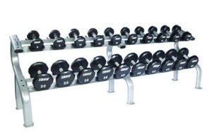Troy 5-50 lb Urethane 12-Sided Dumbbell Set with Rack
