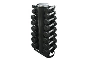 Troy 3-25 lb Rubber Dumbbells with Rack