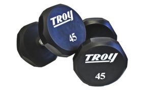 80-100Lb Troy Solid Urethane Encase Dumbbell Set - TSD-080-100US