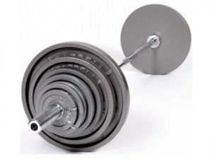 210Lb Troy USA Gray Olympic Weight Plate - OSS-210