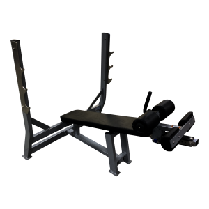 Fettle Fitness Olympic Decline Bench - Black