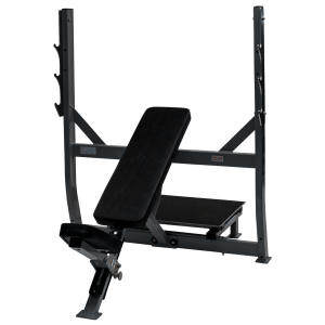 Fettle Fitness Olympic Incline Bench - Black