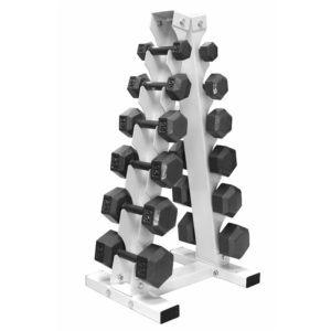 Troy USA A-Frame Rack with Hex Cast Dumbbells - VERTPAC-IHD30