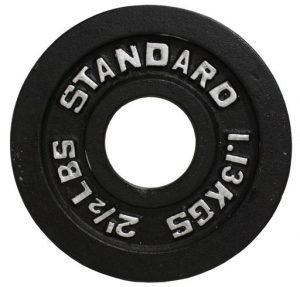 "2.5Lb  Troy USA Black 2"" Olympic Plate - BO-002"