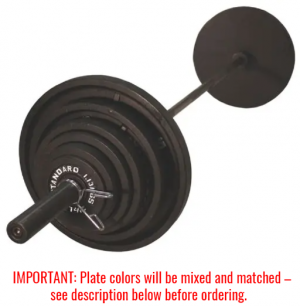 300Lb Troy USA Olympic Weight Set with Black Plates - BOSS-300B