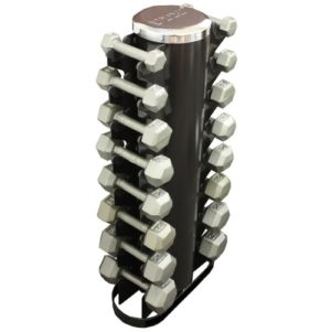 Troy USA 2 Sided Vert Rack with 8 Pair Hex Cast Dumbbells - VERTPAC-IHD25