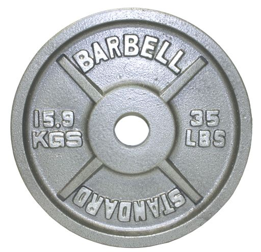 255Lb Troy USA Gray Olympic Weight Plate Set - OSS-255