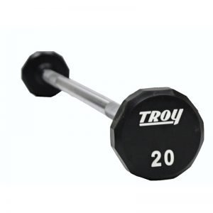 50Lb Troy Barbell Urethane 12-Sided Barbell with End Cap - TSB-050U