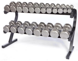 Troy VTX 10 Pair Rail Rack with Vertical Dumbbells - VERTPAC-SDV50