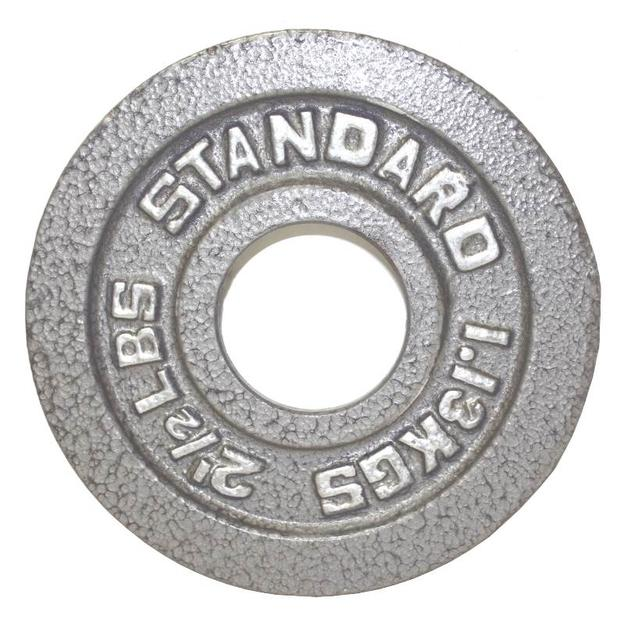 2.5Lb Troy USA Gray Olympic Weight Plate - O-002