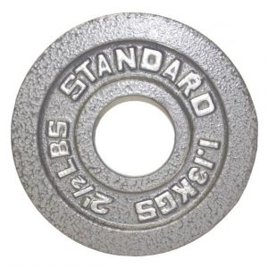 5Lb Troy USA Gray Olympic Weight Plate - O-005