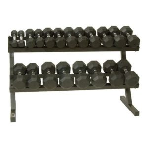 Troy VTX 10 Pair Rail Rack with Rubber Vertical Dumbbells - VERTPAC-SDR50