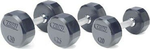 110Lb Troy Barbell Urethane T-Clog E-Z Curl Barbell - TZB-110UTL