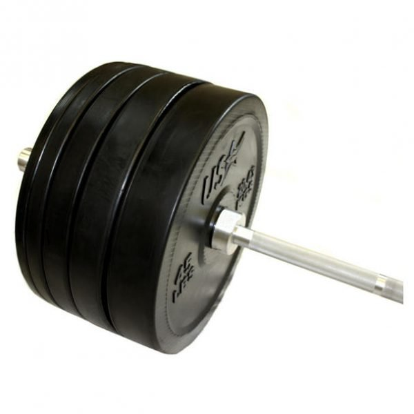 305Lb  Troy USA Olympic Bumper Plate Set with Bar & Collars - GBOSS-305SBP