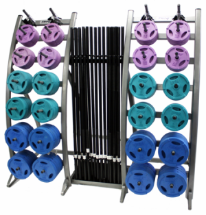 Troy TLS-PAC-C Colored Barbell Training System - TLS-PAC-C