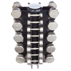 Troy VTX 4 Sided Vert Rack with 13 Pair Vertical Dumbbells - VERTPAC-SDV50G